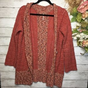 FREE PEOPLE chunky knit Cardigan Sweater Size S